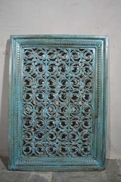Carved wood decor-panel H